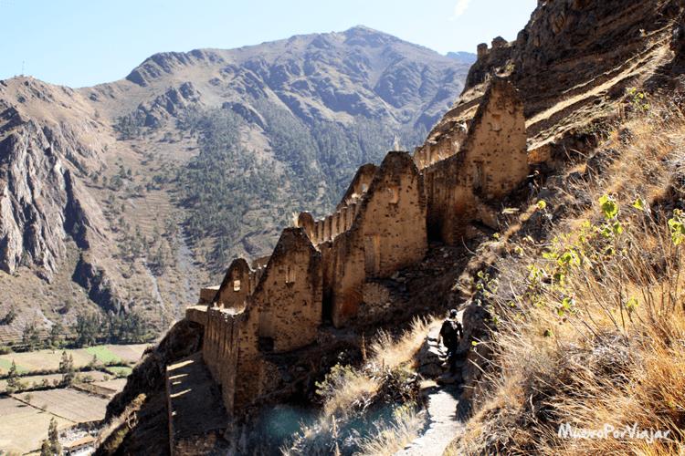Estas ruinas eran lo que utilizaban de función de nevera natural en Ollantaytambo