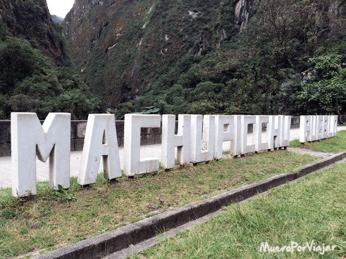 Machu Pichu es una ciudad muy turística, se nota en los detalles que hay repartidos por todos lados