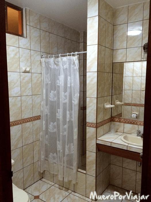 Ducha de la habitación del Hotel Oro Viejo