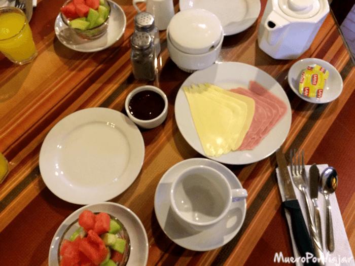 Desayuno en el hotel Oro Viejo
