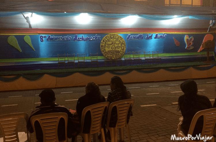 Escenario por el octavo aniversario de la proclamación de Maravilla del Mundo de Machu Pichu