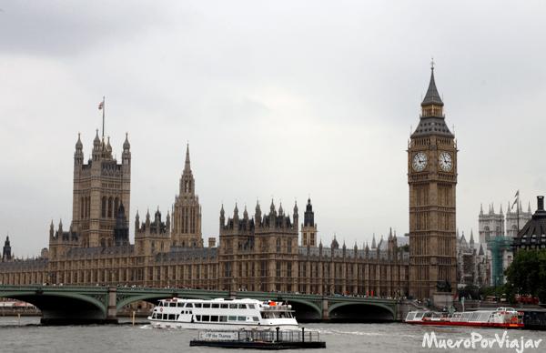 El Big Ben y la sede del Parlamento en Londres