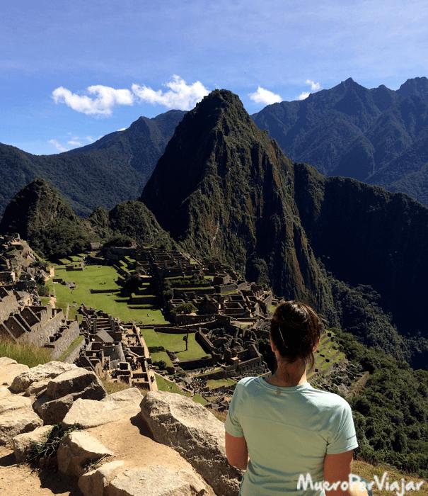 Foto típica del Machu Picchu, muy bonito e impresionante