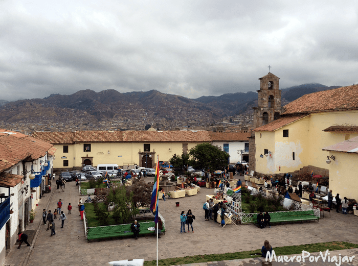 Plaza del barrio de San Blas en Cuzco