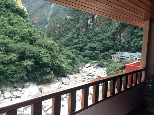 Desde el balcón de la habitación podíamos ver el rio