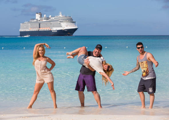 "Professional dancers Mark Ballas and Lacey Schwimmer and celebrities singer Joey Fatone and actress Sabrina Bryan headlined the first-ever ""Dancing with the Stars: At Sea"" theme cruise aboard ms Eurodam while sailing in the eastern Caribbean. Debuting on February 20, Holland America Line's ""Dancing with the Stars: At Sea"" stage performance showcased the celebrities and famed dance professionals in a dazzling production in the ship's main lounge. Other activities during the cruise featured a fashion show of dance costumes, photograph and autograph sessions, a Q&A with the group in the show lounge and special dance instructions by the shipboard dancers. Five more exclusive theme cruises in 2013 and early 2014 are part of the line's recently announced ""Dancing with the Stars: At Sea"" on-board experience. Recently added to the line-up of upcoming performers is Olympic champion and ""Dancing with the Stars"" season eight winner Shawn Johnson. She will perform on ms Veendam's June 22 voyage and ms Oosterdam's June 30 and July 7 cruises. Johnson won season eight of ""Dancing with the Stars"" with professional partner Mark Ballas, who will be sailing with her on the June 22 departure. Dance professional Chelsie Hightower is also scheduled to sail June 22, 2013. Dance professionals Kym Johnson and Tristan MacManus are scheduled to sail with Shawn Johnson on ms Oosterdam's June 30 and July 7 seven-day Alaska cruises along with celebrity Carson Kressley. In 2014 the ""Dancing with the Stars: At Sea"" theme cruises are on board ms Nieuw Amsterdam. Seven-day voyages include an Eastern Caribbean cruise on January 5 and a Western Caribbean cruise on January 12. Celebrities are to be announced. In Photo: Professional dancer Lacey Schwimmer, celebrities Joey Fatone and Sabrina Bryan, and professional dancer Mark Ballas."