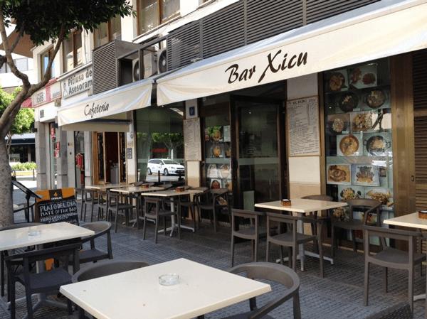 Bar cafeteria Xicu en el centro de Ibiza