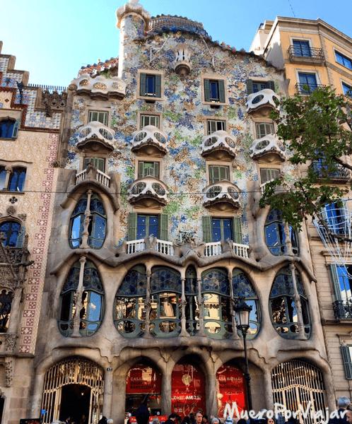 La Casa Batlló en Barcelona es un emblema de la ciudad