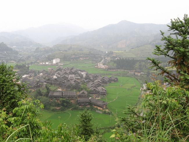 La provincia de Guizhou, China