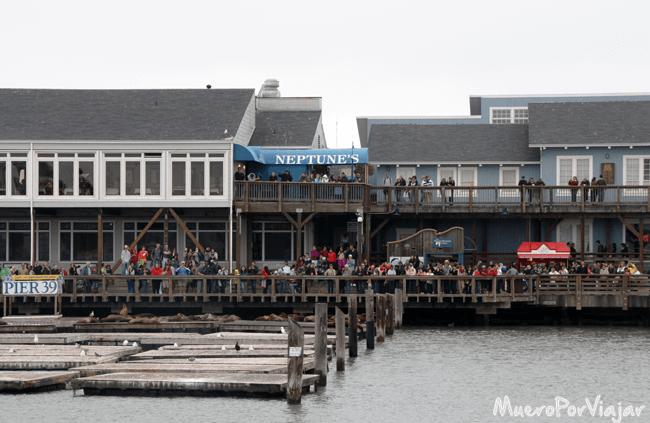 En Fisherman´s Wharf siempre hay eventos o ferias para que la gente se divierta