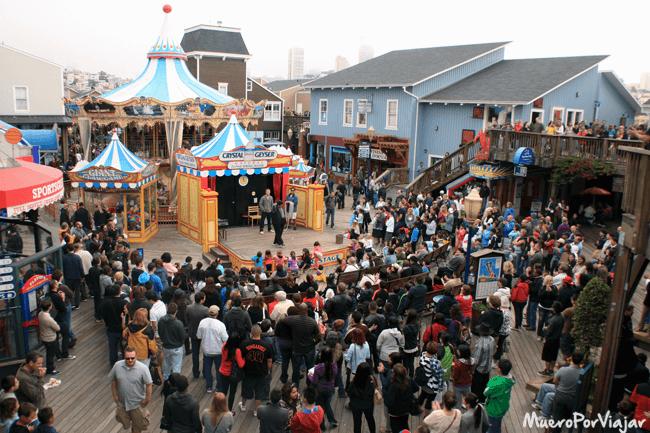 Actuación en Fisherman´s Wharf