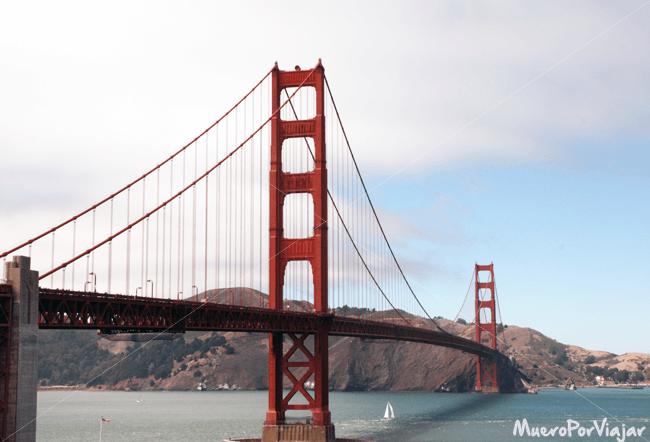 Famosa panorámica del Puente Golden Gate, emblema de San Francisco