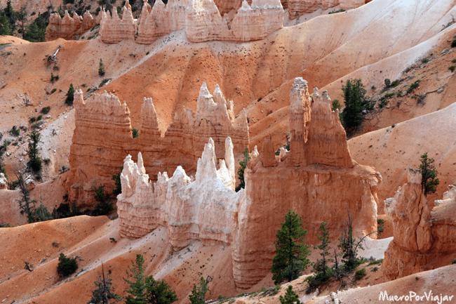 Las famosas Agujas de roca de Bryce Canyon
