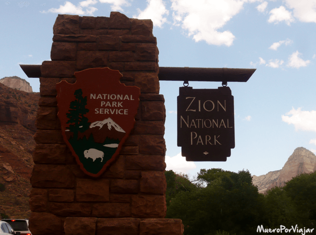 Entrada del Zion National Park