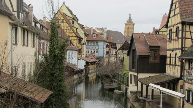 Maravillosa ciudad de Colmar en Francia