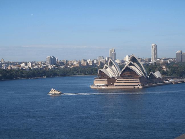 Famosa imagen de la Ópera de Sydney en Australia