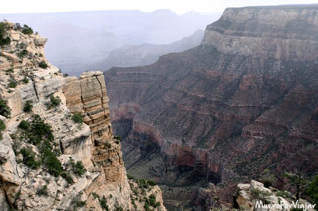 Una sección del Gran Cañón del Colorado