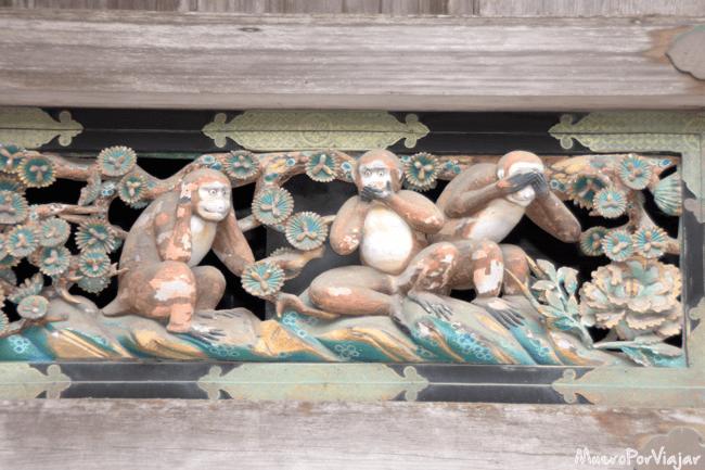 Los tres monos sabios del Santuario Toshogu