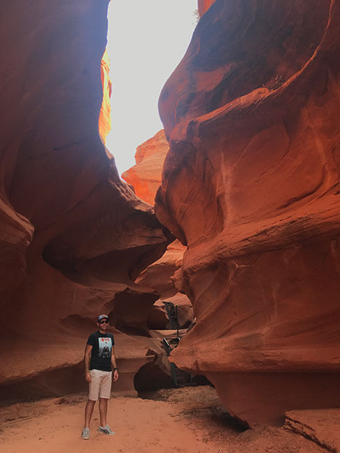 Visitando el Waterholes Canyon en Page