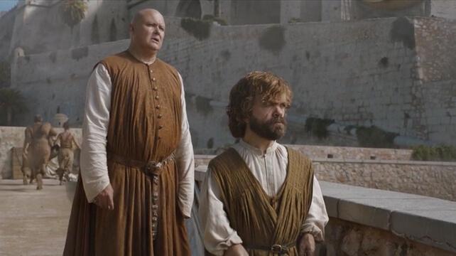 Tyrion Lannister y Varys en Peñiscola