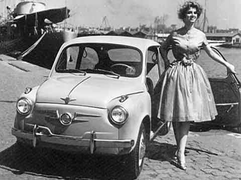 Foto original del Seat 600 de la década de los 50