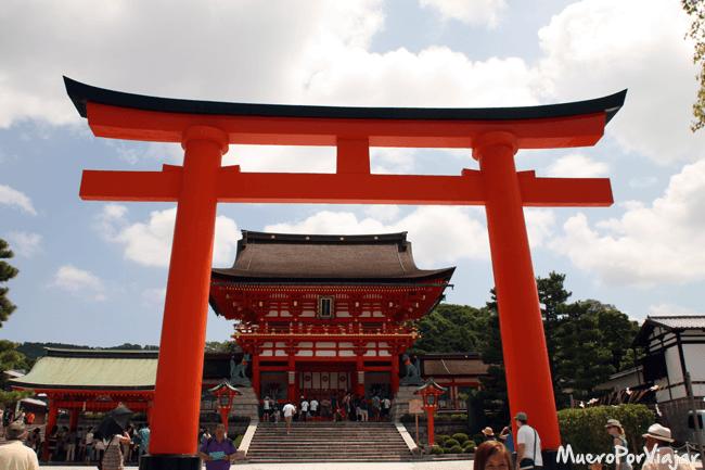 Entrada al Templo Fushimi Inari, Kioto (Japón)