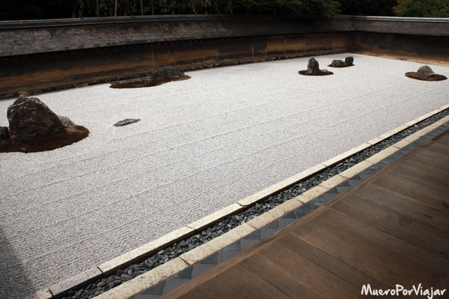 Jardín seco del Templo Ryoan-ji, Kioto (Japón)