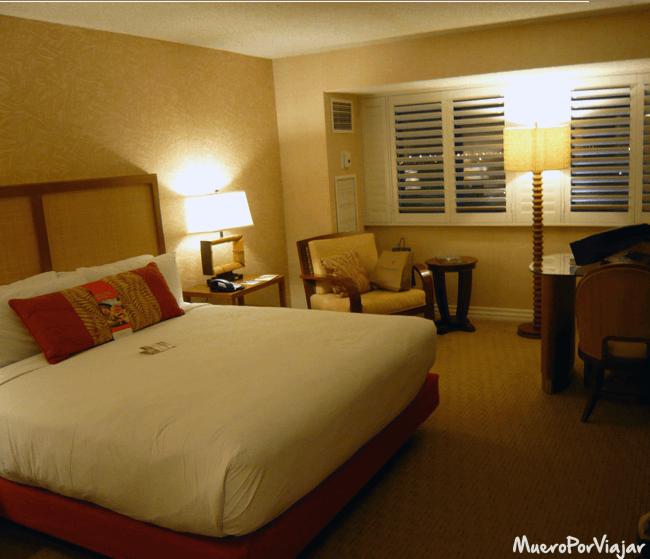 Nuestra habitación en el hotel Tropicana Las Vegas