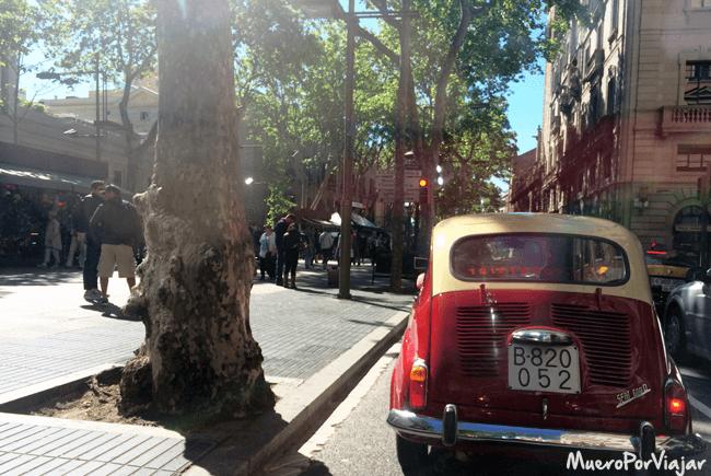 Paseando por las Ramblas de Barcelona con el 600
