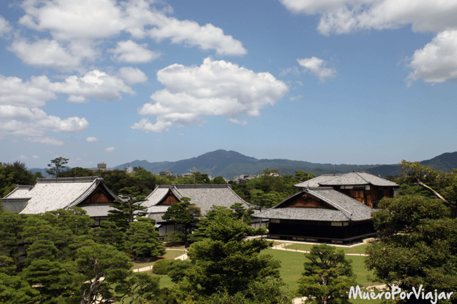 Jardín Ninomaru en el Castillo Nijo de Kioto (Japón)