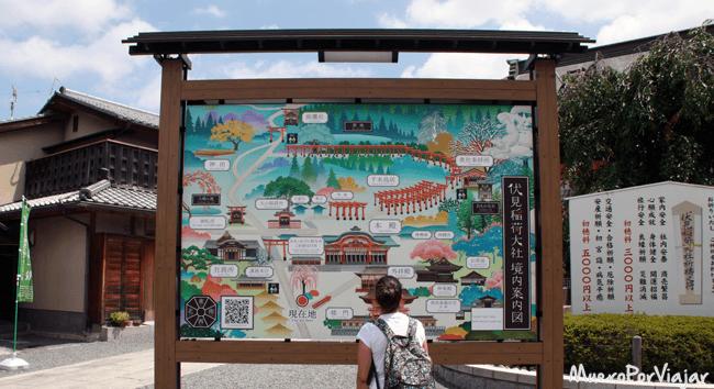 Plano del Templo Fushimi Inari, Kioto (Japón)