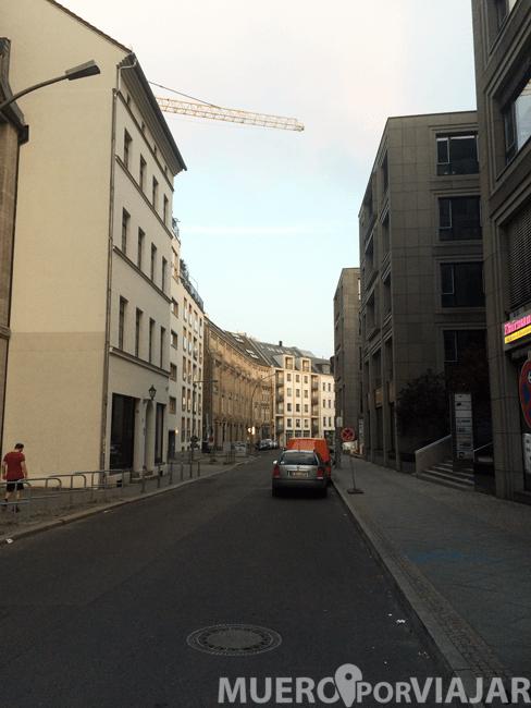 Calle donde se situaba el hotel Best Western Hotel am Spittelmarkt