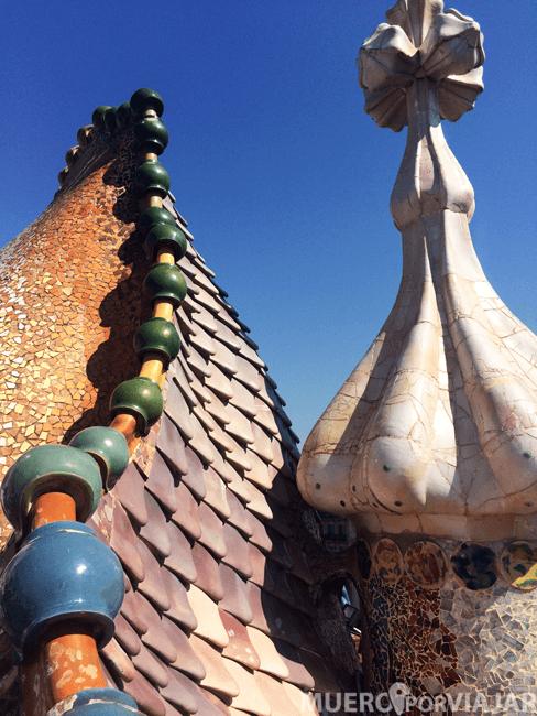 Azotea de la Casa Batlló (Barcelona)