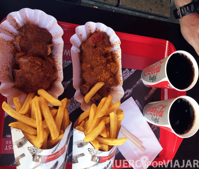 Menú Currywurst express, va de maravilla si tienes mucha hambre pero se queda algo corto
