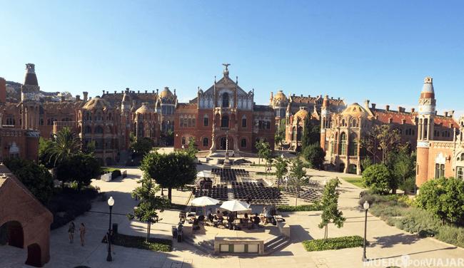 El magnifico Antiguo Hospital de Sant Pau de Barcelona