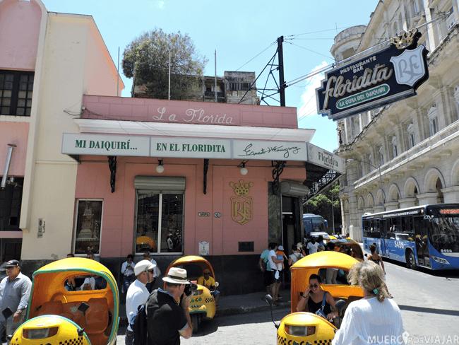 Mítico bar La Floridita donde se inventaron los daiquiris