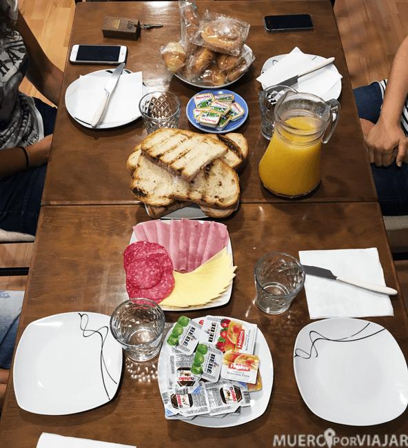 Desayuno en el Hotel Alegret