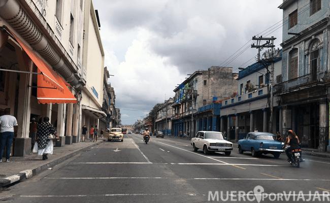 Una de las calles de la Habana