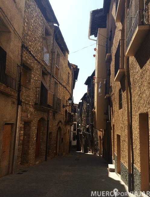 El pueblo de Salàs de Pallars es muy bonito ya que todas sus calles son muy antiguas