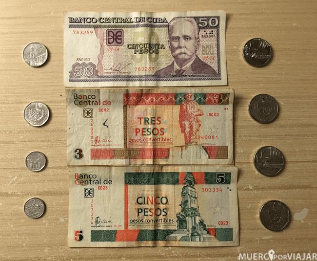 Las dos monedas cubanas