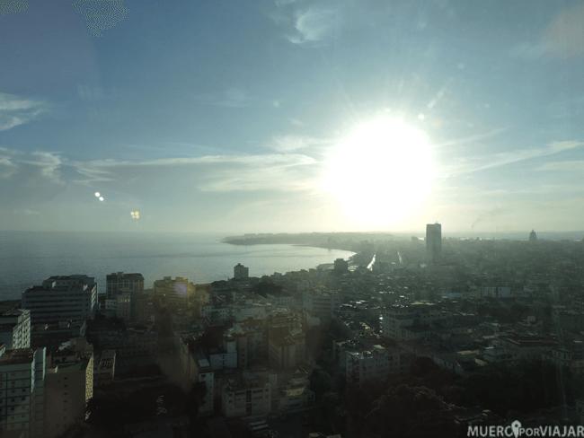 Vistas desde nuestro hotel en La Habana