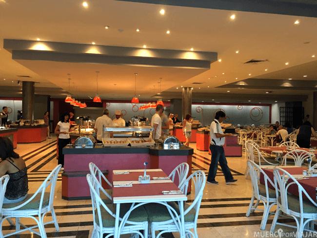 Comedor del hotel Tryp Habana Libre