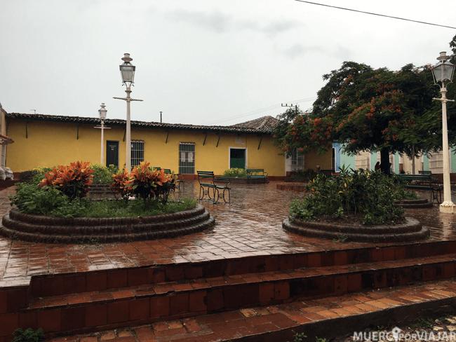 Plaza de Trinidad donde se encontraba nuestra casa