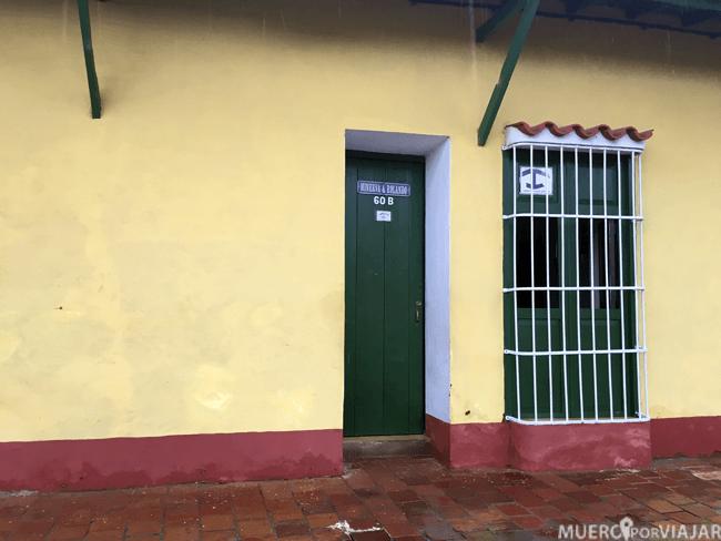 Entrada de nuestra casa particular en Trinidad