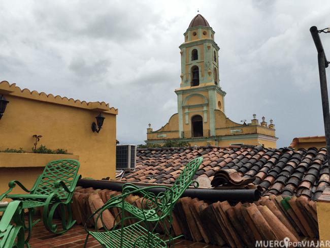 Vistas desde la parte alta de la terraza de nuestra casa particular en Trinidad (Cuba)