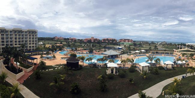 Vistas desde nuestra habitación en el hotel Meliá Marina Varadero