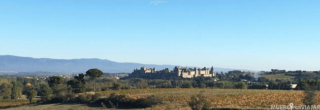 Vistas de Carcassonne desde la autopista