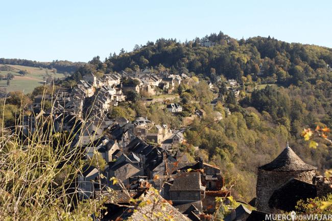 Vista de Najac (Francia)