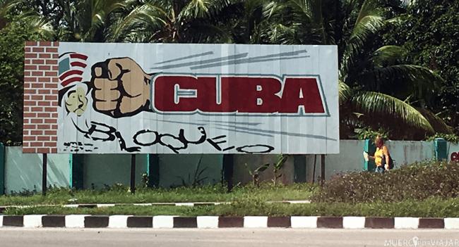 Toda la publicidad de Cuba es sobre la revolución