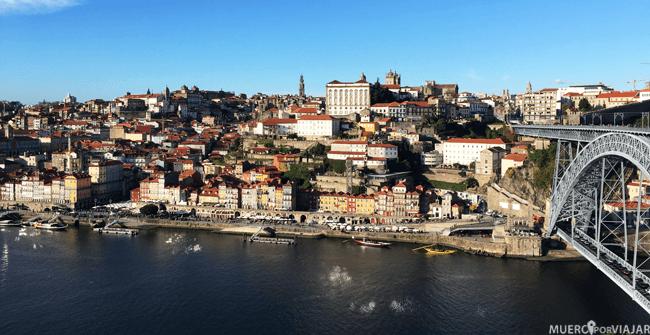 Oporto desde Vila Nova de Gaia